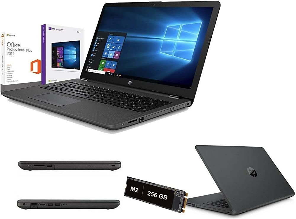 Notebook pc portatile hp 256gb,ram 8gb ddr4 licenza windows 10 pro+office pro