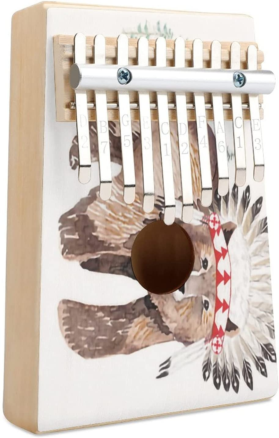 Baby Bear No Quote 90 Degrees Sacramento Mall Finger Cheap mail order shopping Thumb Piano 10 Kalimba Key