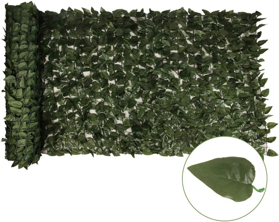 Outdoor Garden 59''x197'' Artificial Max 62% OFF Faux Ivy Pri Leaf Max 73% OFF Hedge and