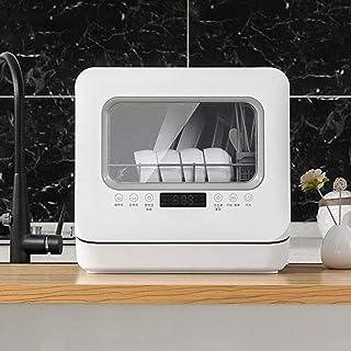 Mini Lavavajillas De Escritorio, De Entrada Doble De Agua / 360 ° De Rotación Doble Rampa Lavavajillas Automático Doméstico, Lavar Platos/Desinfección/Almacenamiento De Agua De Triple