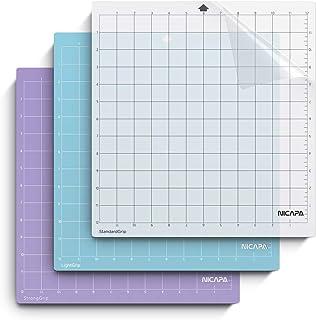 NICAPA Lot de 3 tapis de découpe de rechange pour Silhouette cameo 4/3/2/1 [30,5 x 30,5 cm, prise standard, Lightgrip, Str...