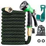 150 ft Expandable Garden Hose - All New 2020 Retractable Water Hose with 3/4' Solid Brass Fittings,...