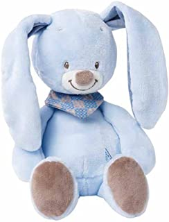Nattou Bibou The Rabbit Cuddly Soft Toy, Blue