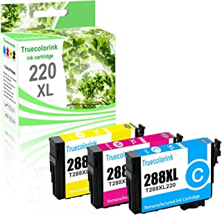 Truecolorink Remanufactured Ink Cartridge Replacement for Epson Epson 288XL 288 XL T288XL T288 to use with XP-440 XP-340 XP-430 XP-330 XP-434 XP-446 Printer (1 Cyan,1 Magenta,1 Yellow,3-Pack)