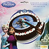 Decocino Zucker-Tortenaufleger Disney Frozen HOCHWERTIGER Tortenaufleger Eiskönigin von DEKOBACK | Tortenaufleger Elsa | 1er Pack (1 x 13 g) | Durchmesser: 16 cm
