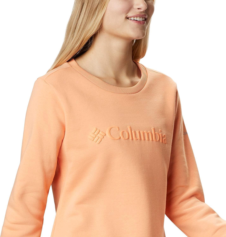 Felpa con Cappuccio e Cerniera Donna Columbia Logo Abbigliamento ...