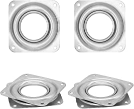 4 Pack 3 Inch Lazy Susan Square Turntable Bearings DIY Furniture Hardware Rotating Swivel Display Stand, 5/16