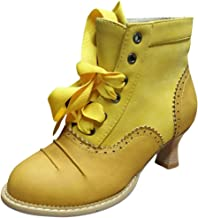 MOTOCO Winter Ankle Boots Women's Thick High Heel Scrub
