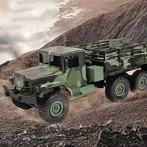 Moerc RC Military Truck, 1:12 Escala 2.4G 6WD Vehículo Pesado de la Carretera Peso Completo de 6 Ejes Simulación de la rotación del ejército Interior Truco Control Remoto Proporción Completa Ejército