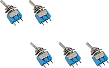 URBEST5 Pcs AC 125V/6A 2 Position On/On SPDT 3 Pins Single Pole Double Throw Mini Toggle Switch