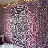 Brandless Mandala Tapiz Indio Hippie Manta Bohemia Colgante de Pared Arte Hogar Decorativo Dormitorio Decoración del hogar (150x130cm)
