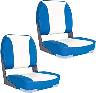 Oceansouth Deluxe Blue/White Folding Boat Seats X 2