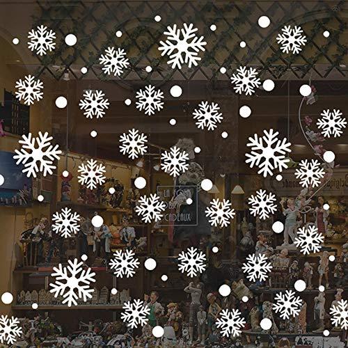 QULIN Feliz Navidad Arte de pared extraíble Vinilo para el hogar Etiqueta de la ventana Etiqueta de la pared Decoración Adornos navideños para la familia