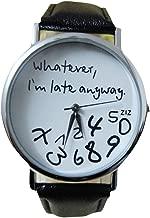 Wristwatch Daoroka Women Fashion Leather Watch Whatever I am Late Anyway Letter Bracelet Jewelry Gift