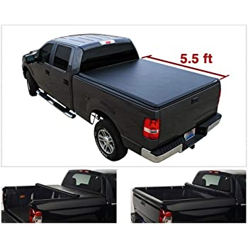 Amazon Com Viksee 66 67 Bed Length Roll Up Tonneau Cover For 2004 2014 F150 2006 2008 Mark Lt Styleside Bed Clamp On Style Waterproof Truck Bed Automotive