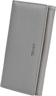 Women's Long Bifold Credit Card Holder Zipper Pocket Clutch Wallet Purse