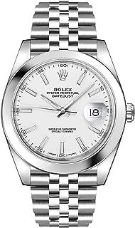 Rolex Datejust 41 White Dial Oystersteel Men's Watch on Jubilee Bracelet 126300