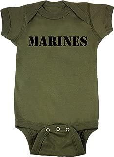 Baby Boys' Marines Military Green Baby Bodysuit
