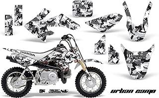 AMR Racing MX Graphics kit Sticker Decal Compatible with Honda CRF50 2004-2013 - Urban Camo