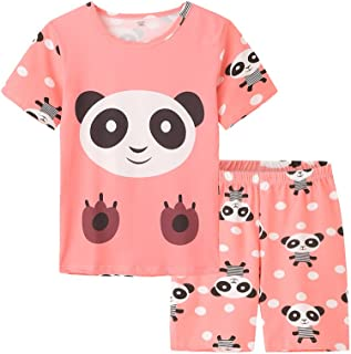 MyFav Big Girls Summer Shorts Pajama Cute Panda Sleepwear Lovely Child Loungwear