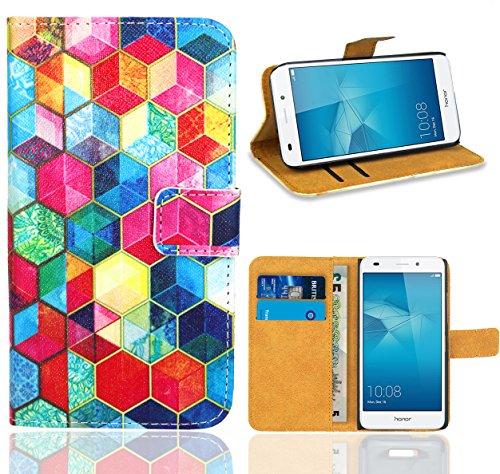 FoneExpert® Huawei Honor 5C Handy Tasche, Wallet Hülle Flip Cover Hüllen Etui Ledertasche Lederhülle Premium Schutzhülle für Huawei Honor 5C