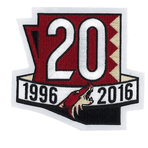 Arizona Coyotes 20th Anniversary NHL Eishockey Patch / Aufnäher