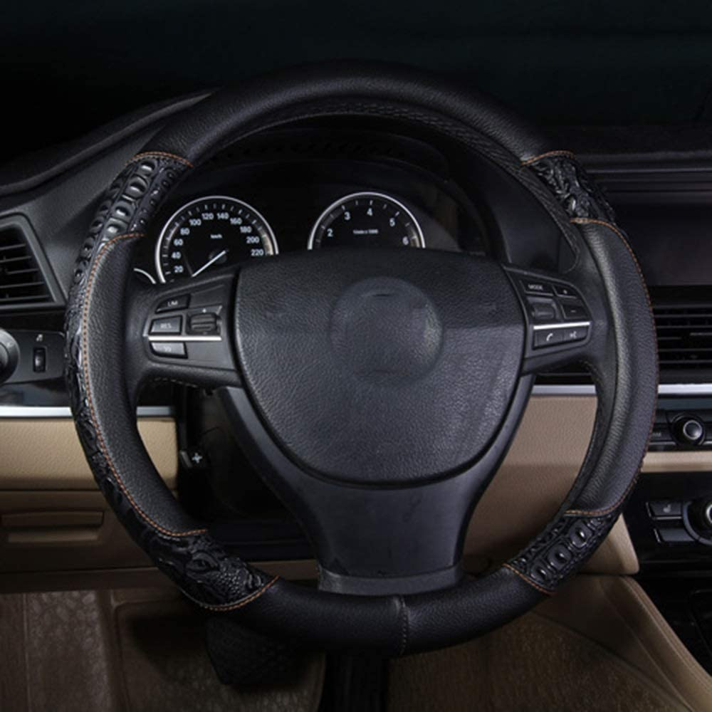 car Accessories Leather Car Steering Text Wheel Great interest Super special price Crocodile Cover