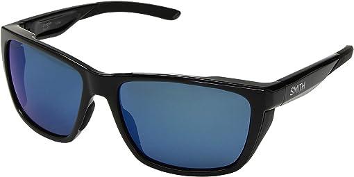 Black/ChromaPop Polarized Blue Mirror Lens