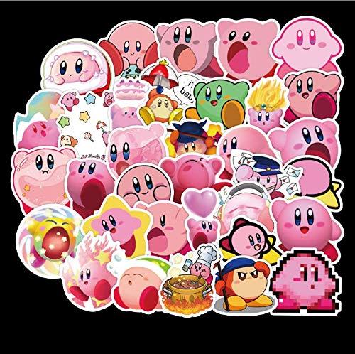 ZXXC Star Kirby Anime Cute Character Sticker Pvc Graffiti Sticker Suitcase Luggage Guitar Waterproof 50 Sheets
