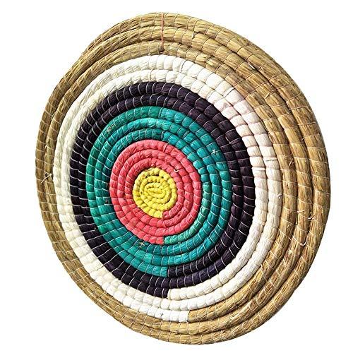 Towinle Redonda Diana de Paja de Tiro con Arco Tradicionales Arrow Target Straw Single Layer Round para Recurve Armbrust Caza Disparo Juego Objetivos de Ejercicio 50 * 50 cm