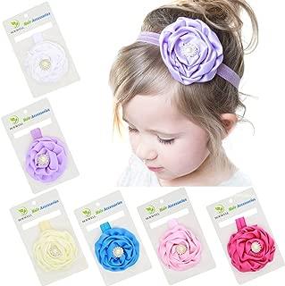 Roewell Baby's Turban Headbands Infant Hair Band Headwear Newborn Knotted Hair Bows Headbands (6 pcs/lot)