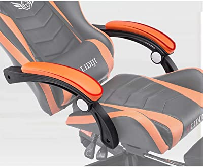 Jizhen High Back Racing Style Faux Leather Executive Computer Gaming Office Chair, Well Padded Footrest