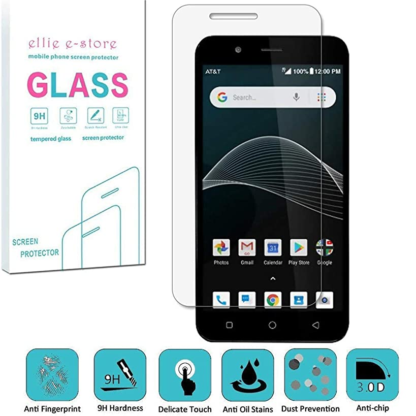AT&T Axia QS5509A, Cricket Vision DQON5001 [Glass Screen] [9H] HD Clear Clarity and Touchscreen .03mm Tempered Glass Protector Glas Shield for AT&T AXIA (2018), Cricket Vision (2018)