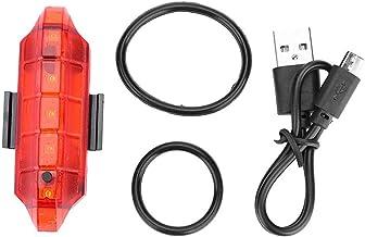 YIFengFurun Fiets Achterlicht,5led 4 Modes Usb Opladen Achterlicht Voor Rijden Achterlicht Voor Outdoor Camping Fietsen Ru...
