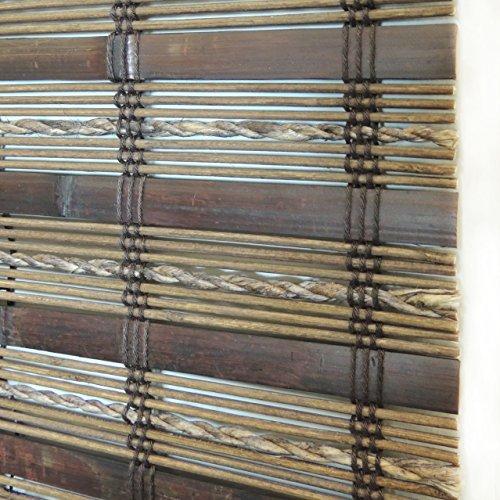 Lewis Hyman 0215508 Havana Bamboo Roman Shade, 70-Inch Wide by 64-Inch Long, Cocoa