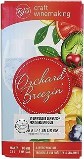 Orchard Breezin' Strawberry Sensation Riesling Wine Kit by RJS