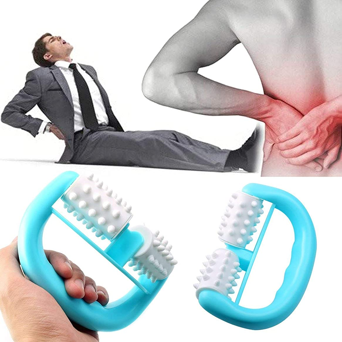 建設谷学校教育Handheld Full Body Anti Cellulite Massage Cell Roller Massager Mini Wheel Ball Foot Hand Body Neck Head Leg Pain Relief