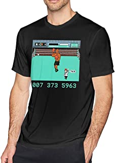 Olga Hart Men's Mike Tysons Punch Out NES Adult Satire Funny Cool Short T-Shirts Tee Black