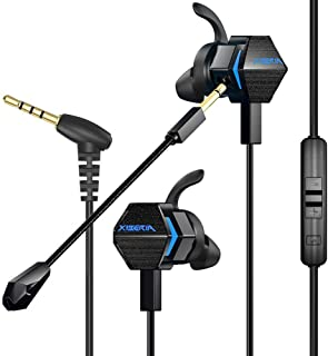 BENGOO MG-2 Gaming Earbuds with Dual Mic Deep Bass Vibration for Xbox One Controller, PS4, Nintendo Switch, PC, Cellphone, Noise Cancelling 4D Stereo 3.5 MM Jack in-Ear Headphones