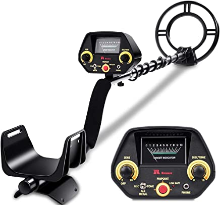 RM RICOMAX Metal Detector - High-Accuracy Metal Finder with Discrimination Mode, Tone Mode