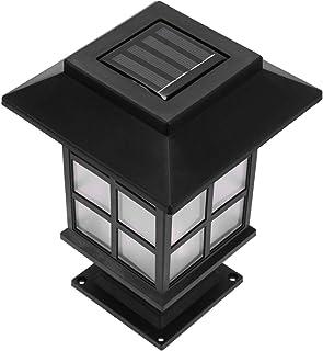 Mobestech 2pcs Solar Post Light Outdoor Stake LED Lamp Post Cap Light Waterproof Landscape Pillar Road Lantern for Fence D...