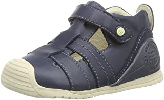Garvalin Azul Navy Leather Closed Toe Sandals with Arch, Ankle and Orthopedic Support (Infant/Toddler)