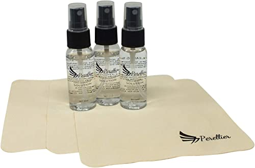Lens Cleaner Spray Kit with Lens Cleaning Solution and Thick Microfiber Cloth - 3 Pack