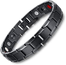 HOT TIME Hottime 316L Stainless Steel Elegant Magnetic Therapy Bracelet Pain Relief for Arthritis and Carpal Tunnel