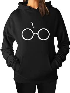 HP Graphic Sweatshirt w/Glasses and Lightning Scar, Drawstring Hoodie