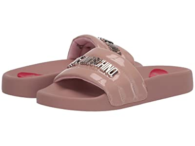 LOVE Moschino High Shine Slide (Cipria) Women