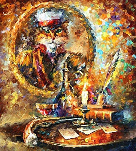 Wooden Puzzle 1000 Pieces for Teenagers and Adults Painted Cat Commander Intellectual Hands-On Game Leisure Time Decoration Gift ChallengeFinished size:75cm*50cm