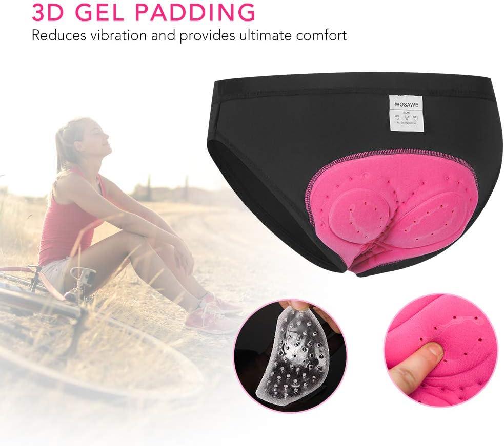 Fesjoy Sous-v/êtement de cyclisme rembourr/é en gel 3D pour femme