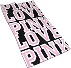 مناشف اليد فيكتوريا سيكريت لوف الوردية 76.2 × 40.64 سم، مناشف حمام يونيكورن متعددة الأغراض منشفة ماصة للغاية للحمام واليدي...