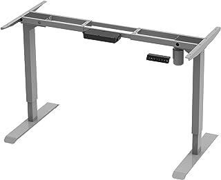 AIMEZO Electric Stand Up Desk Riser Height Adjustable Standing Desk Frame for Home Office Workstation Table Desk (Grey)